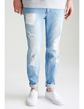 distressed-medium-wash---slim-fit-jeans by forever-21