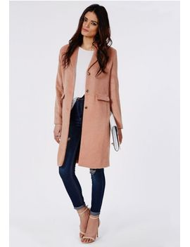 hether-textured-tailored-boyfriend-coat-blush by missguided
