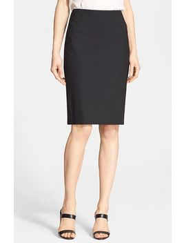 stretch-wool-pencil-skirt by theory