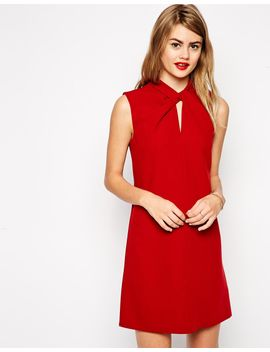 asos-knot-funnel-neck-shift-dress by asos-collection