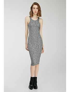 marled-rib-knit-racerback-dress by forever-21
