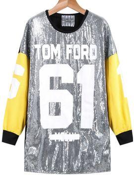 silver-long-sleeve-sequined-61-print-sweatshirt by sheinside