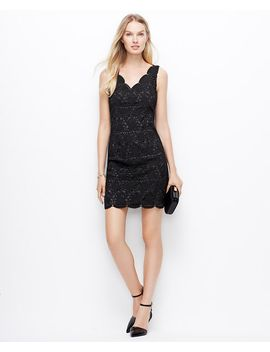 petite-scalloped-lace-dress by ann-taylor