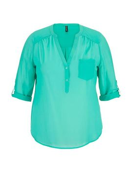 chiffon-v-neck-plus-size-pullover-blouse by maurices