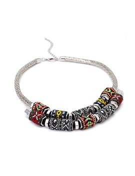 tribal-pattern-statement-necklace by forever-21