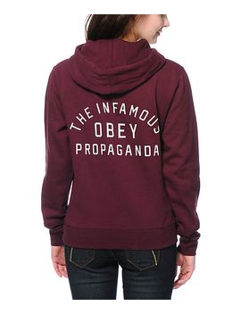 obey-infamous-maroon-pullover-hoodie by obey