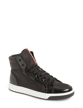 avenue-high-top-sneaker by prada