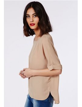 open-back-shell-top-camel by missguided