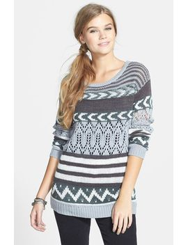 mix-stitch-pullover by sun-&-shadow