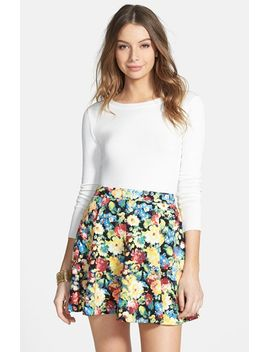 textured-skater-skirt by lush