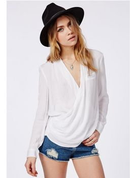 wrap-over-blouse-white by missguided
