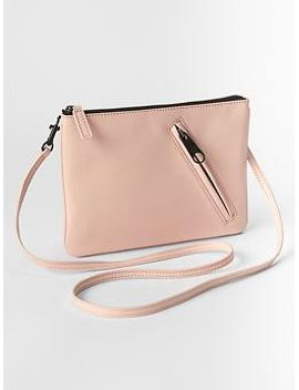 zip-leather-crossbody by gap