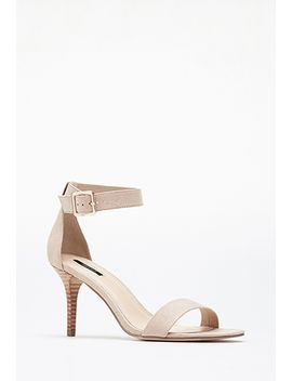 faux-suede-ankle-strap-heels by forever-21