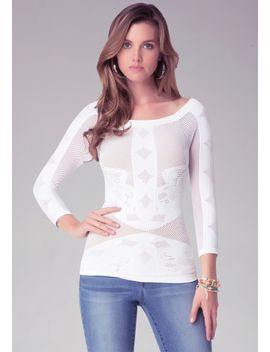 placed-lace-top by bebe