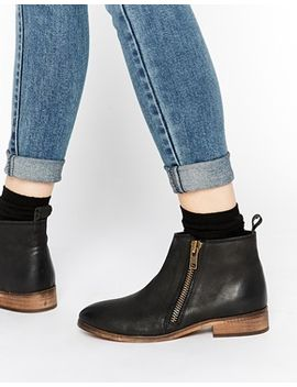 miss-kg-spitfire-zip-black-leather-ankle-boots by miss-kg