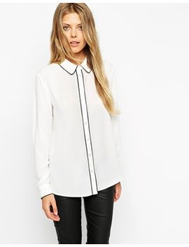 asos-blouse-with-contrast-piping by asos-collection