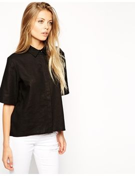 asos-casual-shirt-with-curved-hem by asos-collection