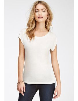 slub-knit-cutout-tee by forever-21
