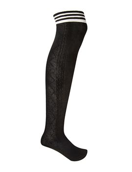 striped-cable-knit-socks by forever-21