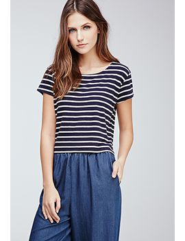 boxy-nautical-striped-tee by forever-21