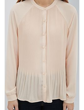 accordion-pleated-raglan-blouse by forever-21