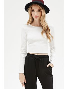 textured-zip-back-crop-top by forever-21