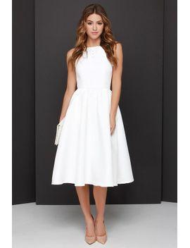 lead-a-charmed-life-ivory-midi-dress by lulus