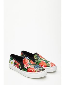 hothouse-floral-slip-ons by forever-21