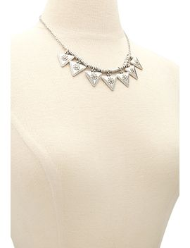 etched-triangle-necklace by forever-21