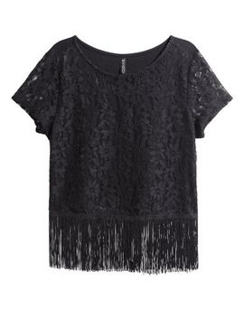 lace-top-with-fringes by h&m