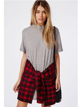 tie-waist-jersey-t-shirt-dress-grey_red by missguided