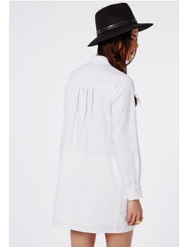 pussybow-shirt-dress-monochrome by missguided