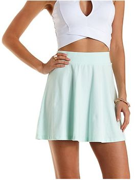 cotton-skater-skirt by charlotte-russe