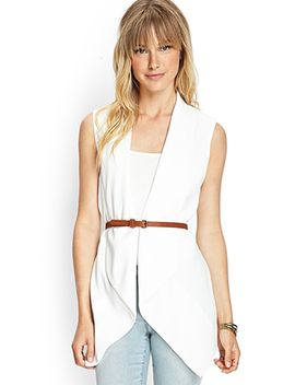 draped-vest-w_-belt by forever-21