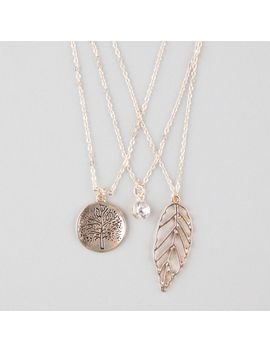 full-tilt-3-piece-tree_rhinestone_leaf-necklaces by tillys
