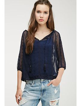 embroidered-chiffon-peasant-top by forever-21