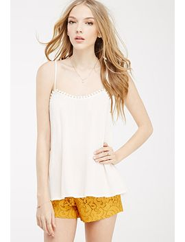 crochet-trimmed-trapeze-cami by forever-21