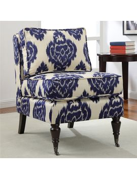 cassidy-indigo-ikat-armless-chair by i-love-living