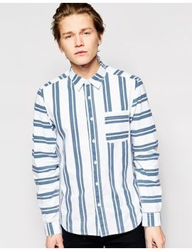 asos-shirt-in-long-sleeve-with-vertical-stripe by asos