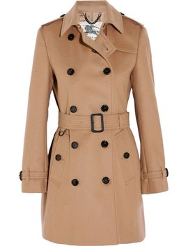 the-kensington-mid-wool-and-cashmere-blend-felt-trench-coat by burberry