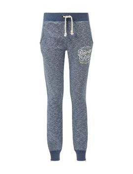 navy-pembridge-and-rose-cuffed-joggers by new-look