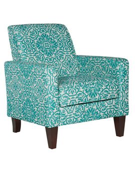angelo:home-sutton-modern-damask-turquoise-blue-arm-chair by angelohome