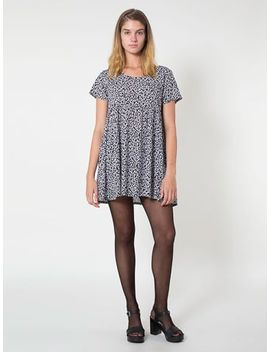 nathalie-du-pasquier-winie-print-rayon-babydoll-dress by american-apparel