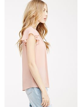 pintuck-pleated-chiffon-blouse by forever-21