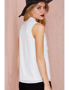 nasty-gal-buy-me-love-neck-tie-blouse by nasty-gal