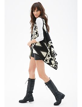 geo-striped-knit-vest by forever-21