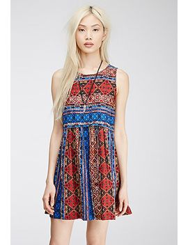 abstract-tile-print-dress by forever-21