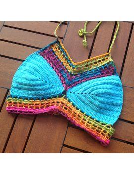 crochet-bikini-halter-bikini-top-crochet-bikini-top-women-swimwear-halter-top-boho-bikini-swimsuit-tank-top-festival-top-senoaccessory by senoaccessory