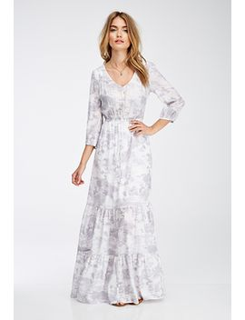 cloud-print-surplice-back-maxi-dress by forever-21