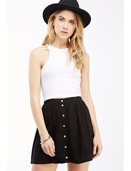 button-front-mini-skirt by forever-21
